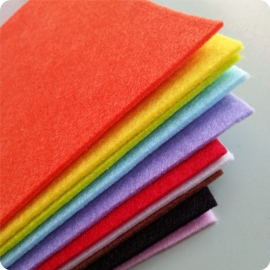 Felt Sheets (50 Pack of 10 Colours)