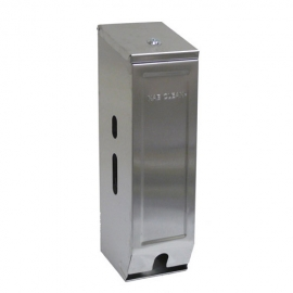 Toilet Roll Dispenser - Stainless Steel - Triple (3 Rolls)