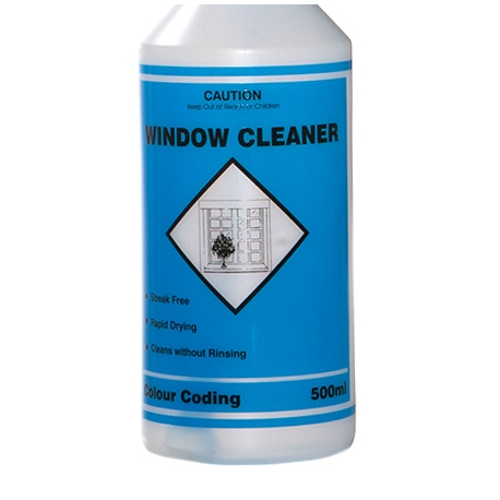 Cleaning Spray Bottle with printed MSDS info