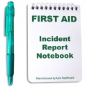 First Aid Incident Report Notebook and Pen