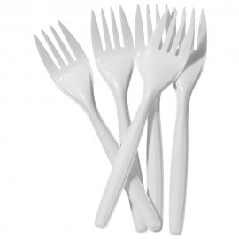 Plastic Forks - 100/Pack - White