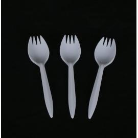 Plastic Sporks - 100/Pack - White