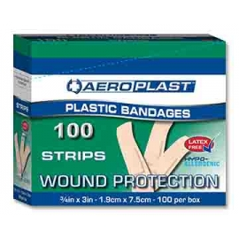Plastic Adhesive Strips 100/Pack