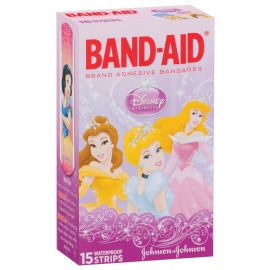 Band-Aid Plastic Adhesive Strips - Princess Print (15/Pack)