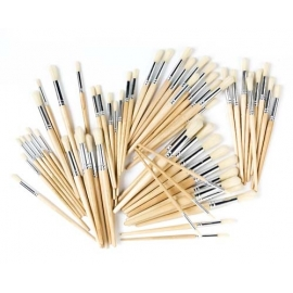 Hog Hair ROUND Brushes (60/Pack)