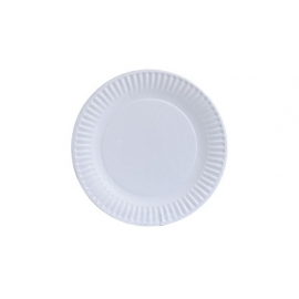 "Paper Plates 7"" (17cm) - Uncoated - White"