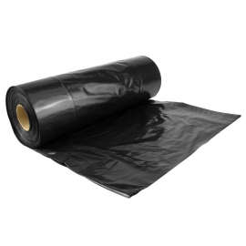 Garbage Bags Rolls, Perforated, Black - 1,000 Carton