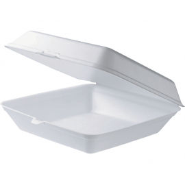 Dinner Foam Clam Container - Square With Lid