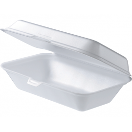 Snack Foam Clam Container - Rectangular With Lid