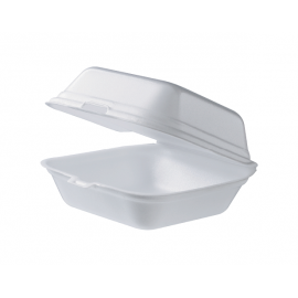 Burger Clam Container - Square With Lid